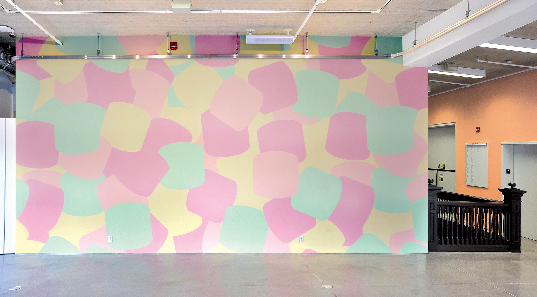Marshmallow-Wall_2012_handprinted-wall-mural_152-x315-inches