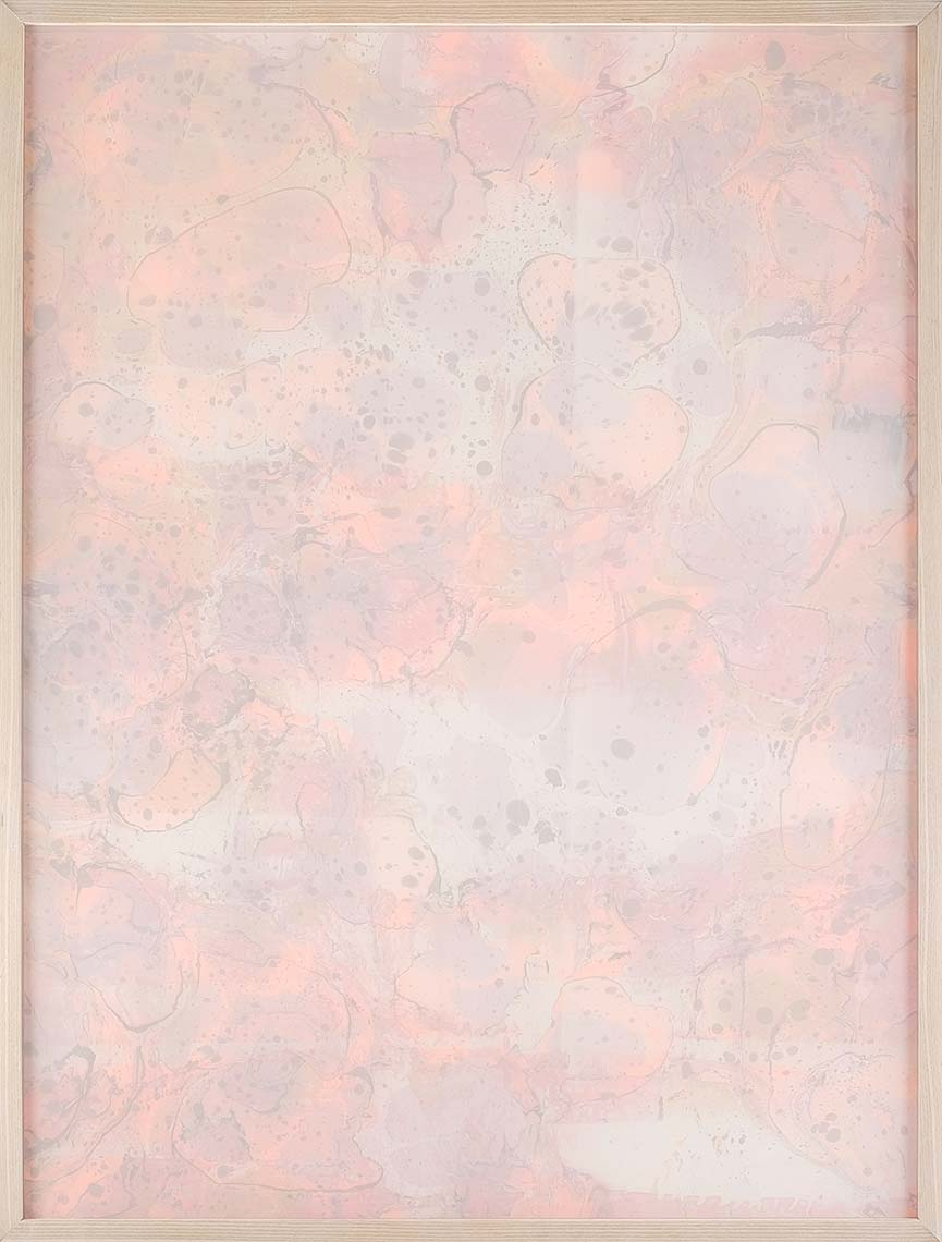 Pink-and-Orange-Fade-Away_silk-chiffon-hand-marbled-paper_48x36-inches