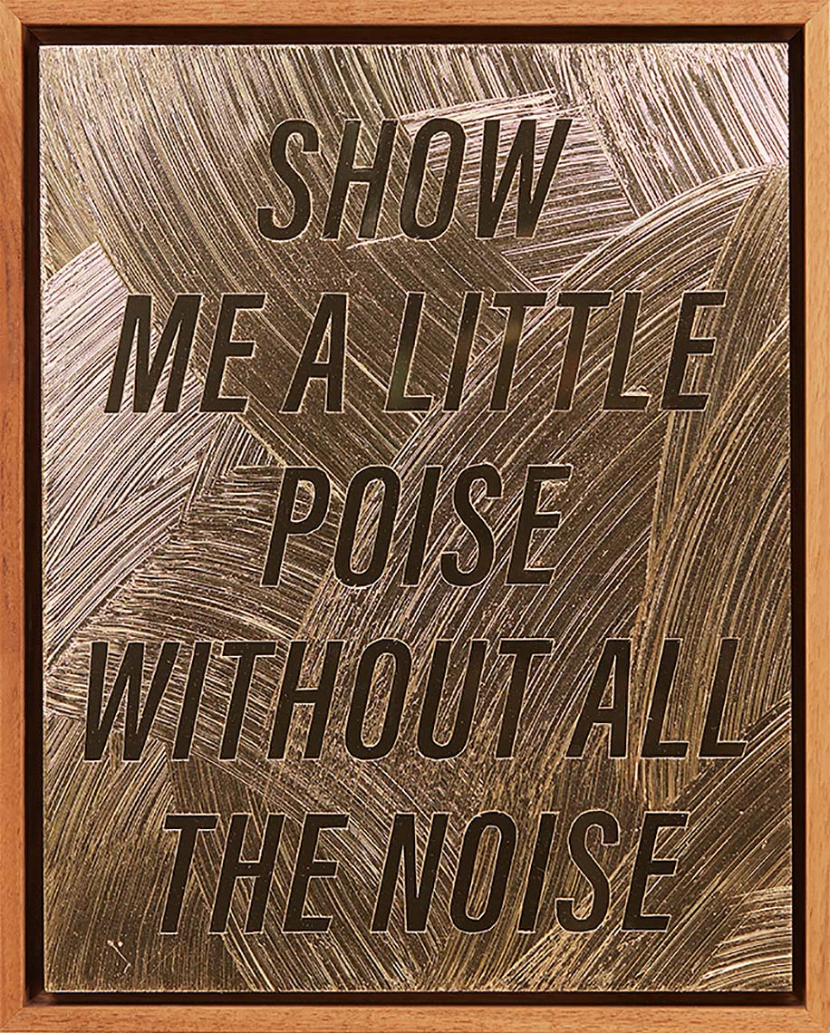 SHOW-ME-A-LITTLE-POISE-WITHOUT-ALL-THE-NOISE-2018-acrylic-gel-medium-on-gold-Alupanel-12X9inches