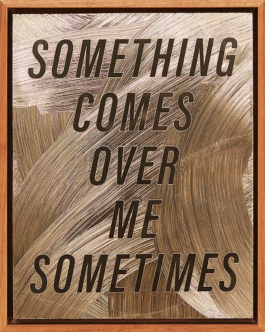 SOMETHING-COMES-OVER-ME-SOMETIMES-2018-acrylic-gel-medium-on-gold-Alupanel-12X9inches