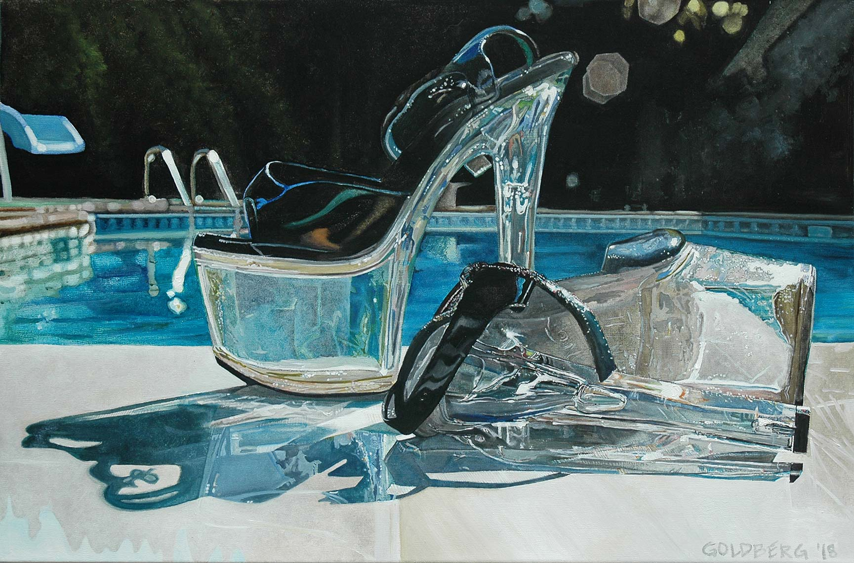 Shoes-by-Pool-24x36-Oil-on-Canvas-2017