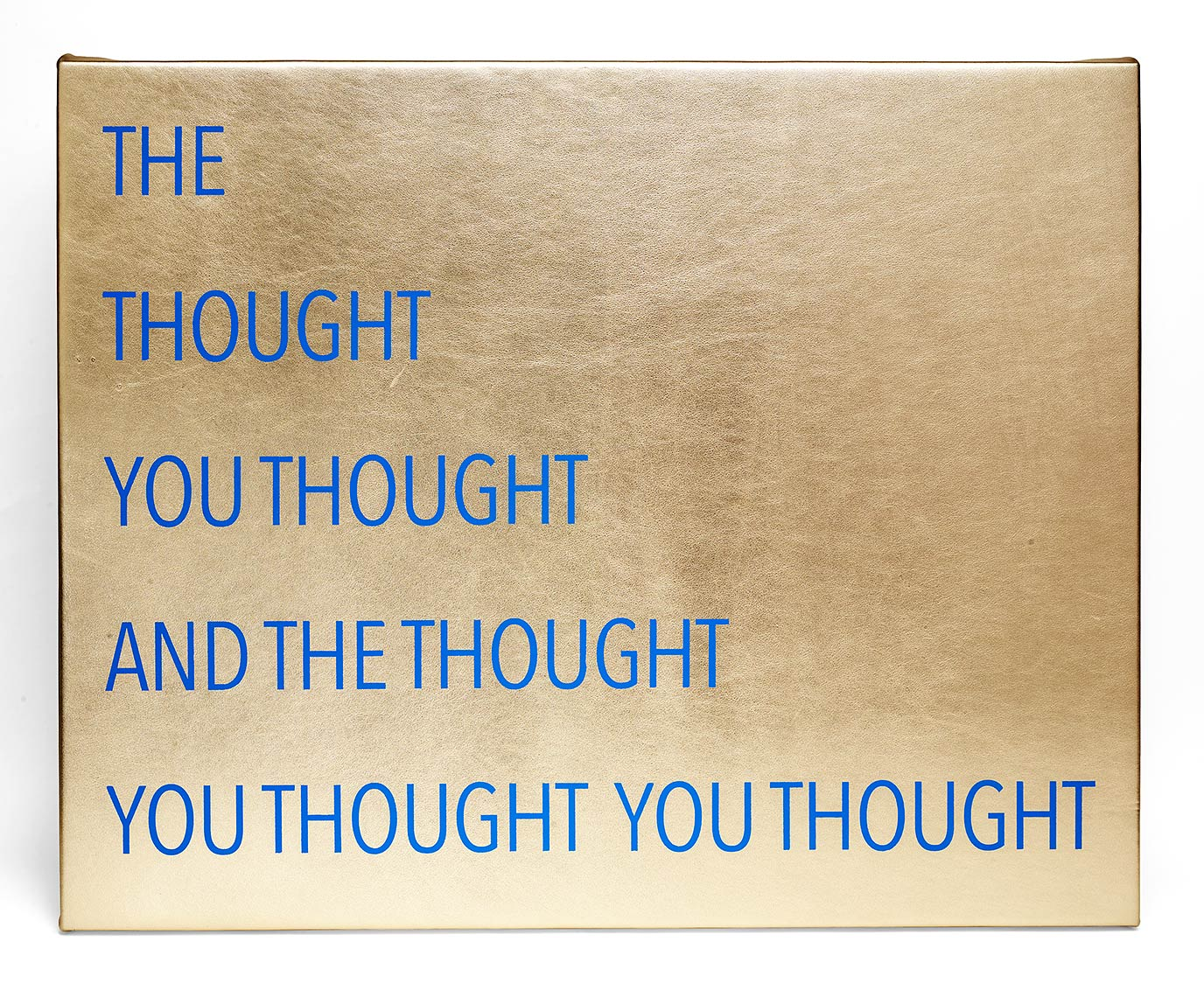 Thoughts_2015_acrylic-on-gold-foiled-leather_24-x-30-inches