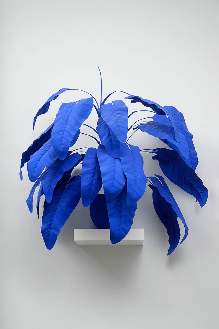 Yves-Leaves_2016_acrylic-on-faux-plant-and-planter_dims-variable